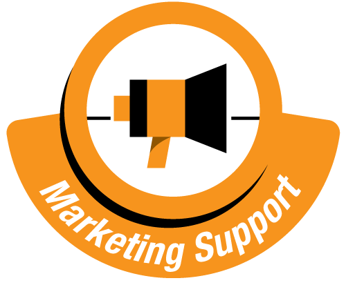 Marketing support link to contact form