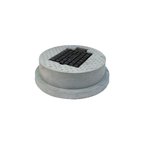 Hydrant Cover Grey Rnd (H embossed)