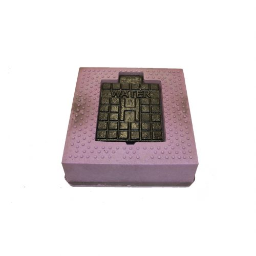Hydrant Cover Sq Lilac (H embossed)
