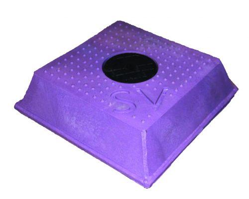 Sluice Valve Cover Sq Lilac
