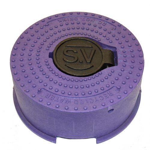 Sluice Valve Cover Rnd Lilac