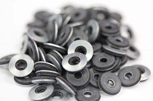 Metal roof washer suits fastener gauge #10 - Black O.D 12mm