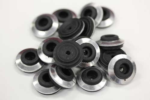 High performance metal roof washer suits fastener gauge #14 - Black O.D 19mm