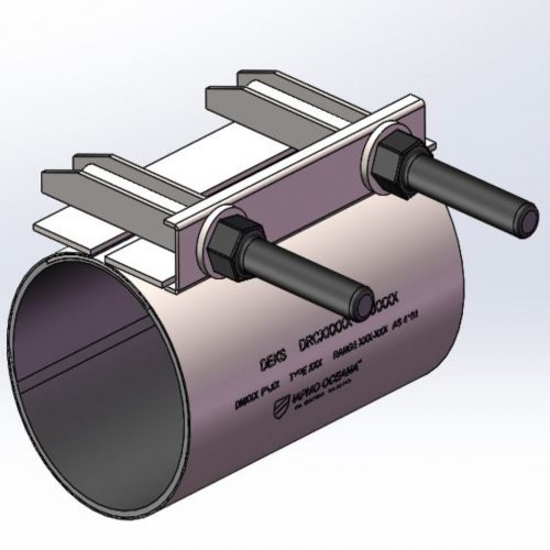 "SS Repair Clamp 300mm/8"" for 114-124mm/4.45-4.88"" OD _x000D_"