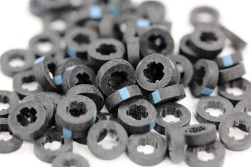 Metal roof washer suits fastener gauge #12 - Black O.D 16mm