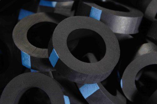 Metal roof washer suits fastener gauge #14 - Black O.D 16mm