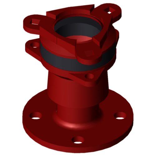Waga MJ3057 Flange adaptor DN50 46-71mm EPDM A4