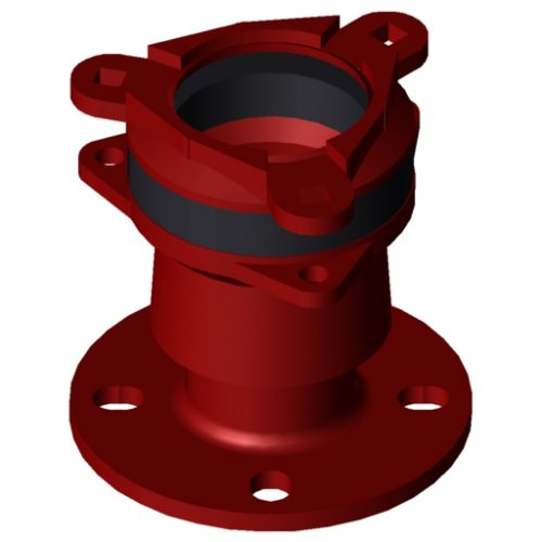 Waga MJ3057 Flange adaptor DN65 63-90mm EPDM A4